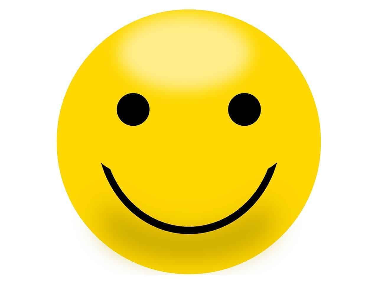 Ein gelbes Smiley bringt und oft alleine schon zum Schmunzeln, weil es Freude beschreibt.